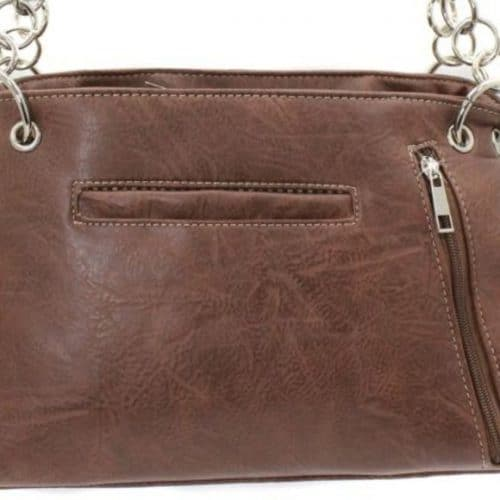 Western Rhinestone Conceal Carry Handbag with Cross Back View