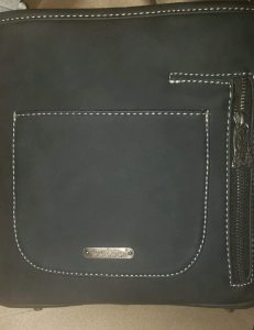 Montana West Conceal Carry Crossbody Black Back View