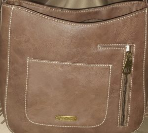 Western Embossed Conceal Carry Handbag back view (Montana West)